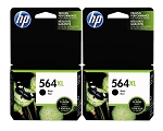 Genuine HP 564XL Black Ink Cartridge - 2 Pack
