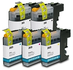 Compatible Brother LC-203 Ink Cartridge 5-Pack