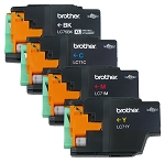 GENUINE NEW Brother LC75 LC-71 Ink Cartridge in Vacuum Packaging 4-Pack