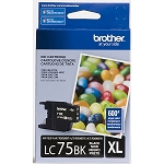 Genuine Brother LC-75BK High Yield Black Ink Cartridge