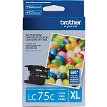 Genuine Brother LC-75C High Yield Cyan Ink Cartridge