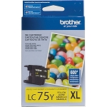 Genuine Brother LC-75Y High Yield Yellow Ink Cartridge