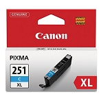 Genuine Canon CLI-251XL (6449B001) High Yield Cyan Ink Tank
