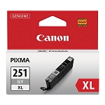 Genuine Canon CLI-251XL (6452B001) High Yield Gray Ink Tank
