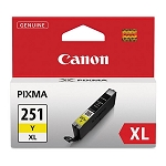 Genuine Canon CLI-251XL (6451B001) High Yield Yellow Ink Tank