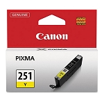 Genuine Canon CLI-251 (6516B001) Yellow Ink Tank