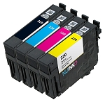 Remanufactured Epson 220 BK/C/M/Y Ink Cartridge 4-Pack