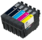 Remanufactured Epson 220 BK/C/M/Y Ink Cartridge 5-Pack