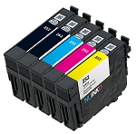 Remanufactured Epson 252 BK/C/M/Y Ink Cartridge 5-Pack
