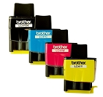 Genuine Brother LC-41 BK/C/M/Y Inkjet Cartridge Set - 4 Pack