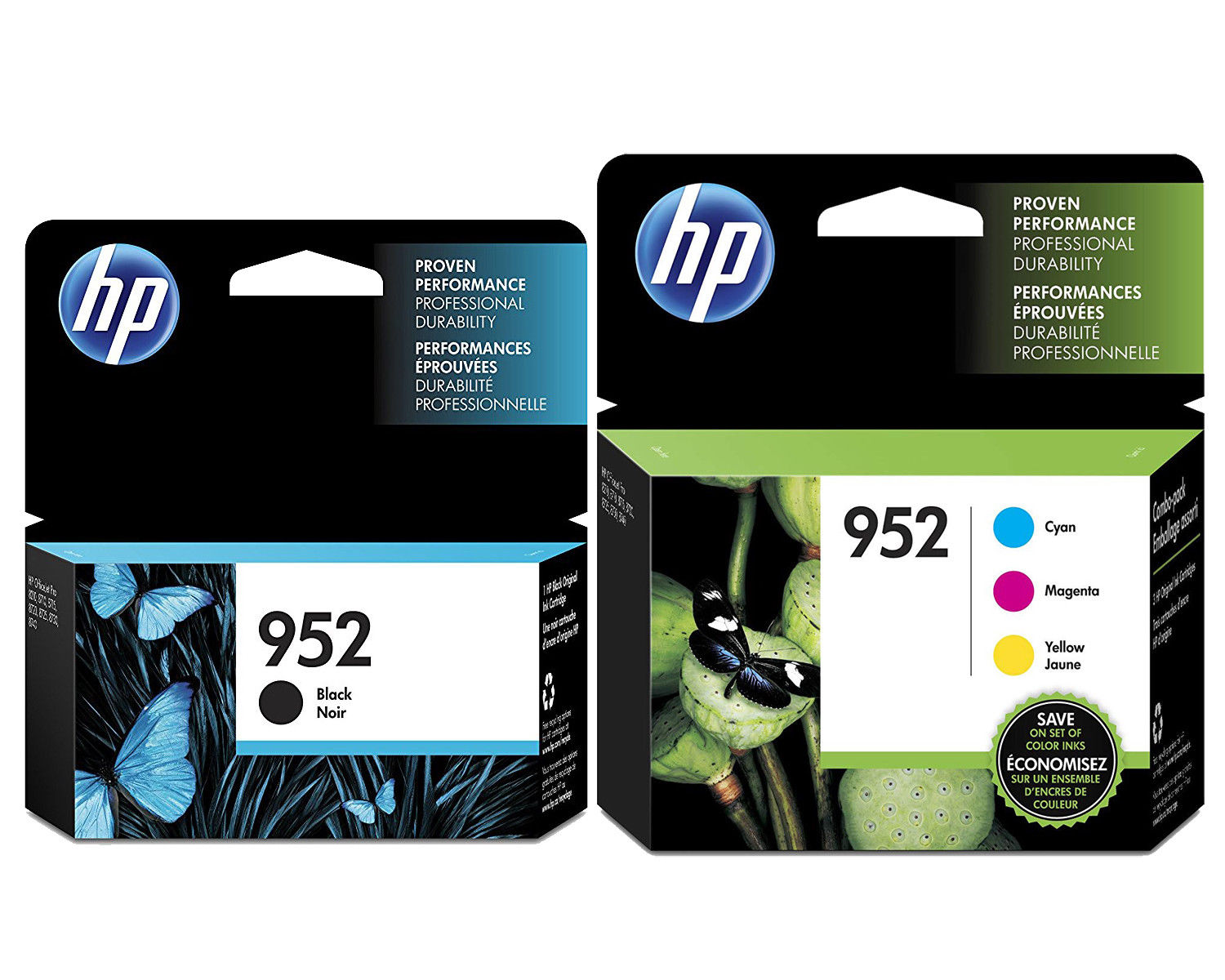 4-PACK HP GENUINE 952XL Black /& 952 Color Ink  OFFICEJET PRO 8710 new in box