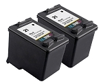 NUINKO 2 Pack Remanufactured HP 21 Ink Cartridge for HP Deskjet F4180 F380 F2280 F2180 PSC 1410 Printers (2 Black)