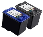 NUINKO 2 Pack Remanufactured HP 21 HP 22 Ink Cartridge for HP Deskjet F4180 F380 F2280 F2180 PSC 1410 Printers (1 Black 1 Color)