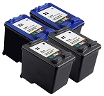 NUINKO 4 Pack Remanufactured HP 21 HP 22 Ink Cartridge for HP Deskjet F4180 F380 F2280 F2180 PSC 1410 Printers (2 Black 2 Color)