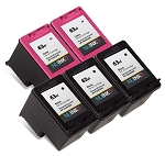 Remanufactured NUINKO HP 63XL (F6U64AN/F6U63AN) Black/Color Ink Cartridge 5-Pack