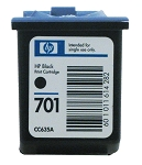 GENUINE NEW HP 701 (CC635A) Black Ink Cartridge No Packaging