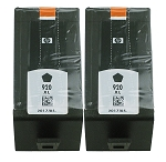 GENUINE NEW HP 920XL (CD975AN) Black Ink Cartridge No Packaging 2-Pack