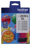 Genuine Brother LC-2033PKS High Yield Color (C/M/Y) Ink 3-Pack