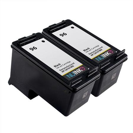 nuinko 2 pack remanufactured ink cartridge replacement for hp 96 for hp deskjet 6940 5940 9800. Black Bedroom Furniture Sets. Home Design Ideas