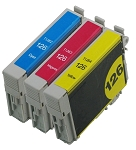 3 Pack Compatible Epson 126 Ink Cartridge (C/M/Y)