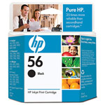 Genuine Hewlett Packard (C6656AN) HP 56 Black Ink Cartridge