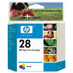 Genuine Hewlett Packard (C8728AN) HP 28 Tri-Color Ink Cartridge
