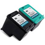 Compatible HP 92 Black Ink Cartridge and HP 93 Color Ink Cartridge - 2 Pack