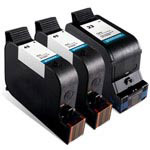 Compatible HP 45 Black Ink Cartridge and HP 23 Color Ink Cartridge - 3 Pack