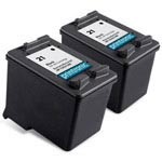 Compatible HP 21 (C9351AN) Black Ink Cartridge - 2 Pack