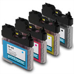 Compatible Brother LC-65  BK/C/M/Y Compatible Inkjet Cartridge Set - 4 Pack