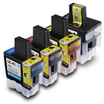 Compatible Brother LC-41 BK/C/M/Y Inkjet Cartridge Set - 4 Pack