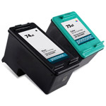 Compatible HP 74XL Black Ink Cartridge and  HP 75XL Color Ink Cartridge - 2 Pack