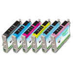 Compatible Epson* 48 (T048120, T048220, T048320, T048420, T048520, T048620) Color Ink Cartridge - 6 Pack