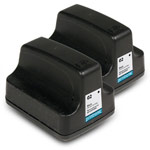 Compatible HP 02 C8721WN Black Ink Cartridge - 2 Pack