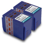 Compatible Pitney Bowes 793-5 Red Ink Cartridge - 2 Pack
