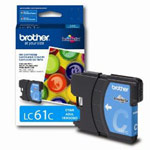 Genuine Brother LC-61C Cyan Ink Cartridge