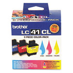 Genuine Brother LC-41 3PKS Cyan Magenta Yellow Ink Cartridge - 3 pack