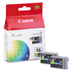 Genuine Canon BCI-16C - 9818A003 Color Ink Cartridge 2 Pack