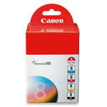 Genuine Canon CLI-8 - 0620B010 Black and Color Ink Cartridge Multipack