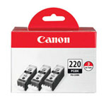 Genuine Canon PGI-220 - 2945B004 High Capacity Black Ink Cartridge 3 Pack