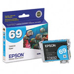 Genuine Epson 69 (T069220) Durabrite Ultra Cyan Ink Cartridge