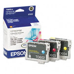 Genuine Epson 60 (T060520) Color Ink Cartridge Multipack