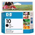 Genuine Hewlett Packard (C4844A) HP 10 Black Ink Cartridge