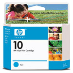 Genuine Hewlett Packard (C4841A) HP 10 Cyan Ink Cartridge
