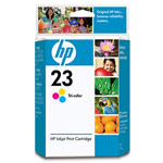 Genuine Hewlett Packard (C1823D) HP 23 Color Ink Cartridge