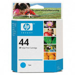 Genuine Hewlett Packard (51644C) HP 44 Cyan Ink Cartridge