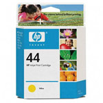 Genuine Hewlett Packard (51644Y) HP 44 Yellow Ink Cartridge