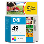 Genuine Hewlett Packard (51649A) HP 49 Color Ink Cartridge