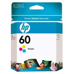Genuine Hewlett Packard (CC643WN) HP 60 Color Ink Cartridge