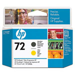 Genuine Hewlett Packard (C9384A) HP 72 Matte Black/Yellow Ink Printhead